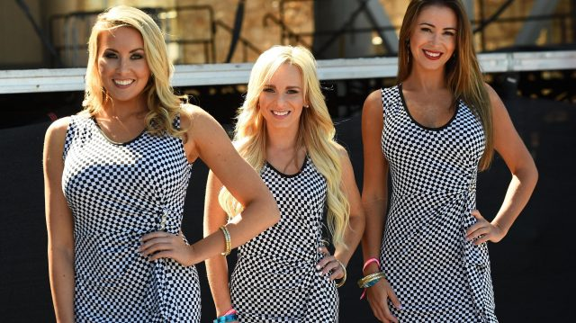 Grid girls at Formula One World Championship, Rd18, United States Grand Prix, Practice, Circuit of the Americas, Austin, Texas, USA, Friday 21 October 2016. &copy&#x3b; Sutton Images