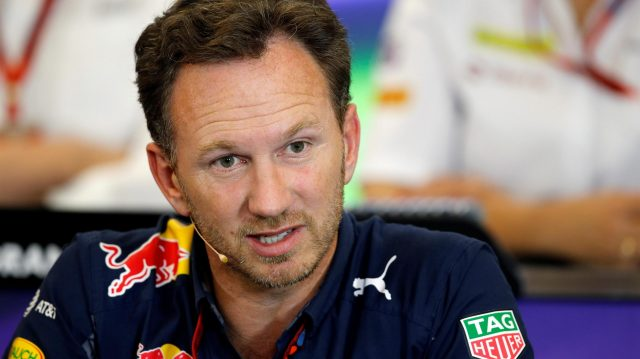 Christian Horner (GBR) Red Bull Racing Team Principal in the Press Conference at Formula One World Championship, Rd18, United States Grand Prix, Practice, Circuit of the Americas, Austin, Texas, USA, Friday 21 October 2016. &copy&#x3b; Sutton Images