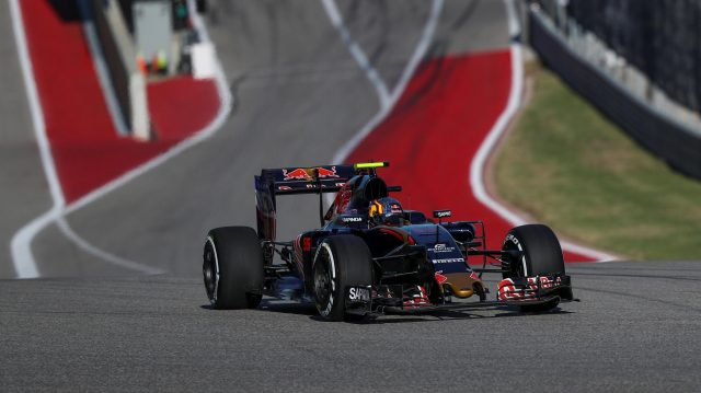 Carlos Sainz (ESP) Scuderia Toro Rosso STR11 at Formula One World Championship, Rd18, United States Grand Prix, Qualifying, Circuit of the Americas, Austin, Texas, USA, Saturday 22 October 2016. &copy&#x3b; Sutton Images