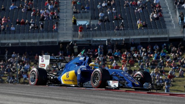 Marcus Ericsson (SWE) Sauber C35 at Formula One World Championship, Rd18, United States Grand Prix, Qualifying, Circuit of the Americas, Austin, Texas, USA, Saturday 22 October 2016. &copy&#x3b; Sutton Images