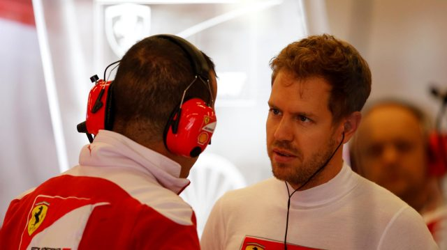 Sebastian Vettel (GER) Ferrari at Formula One World Championship, Rd18, United States Grand Prix, Qualifying, Circuit of the Americas, Austin, Texas, USA, Saturday 22 October 2016. &copy&#x3b; Sutton Images