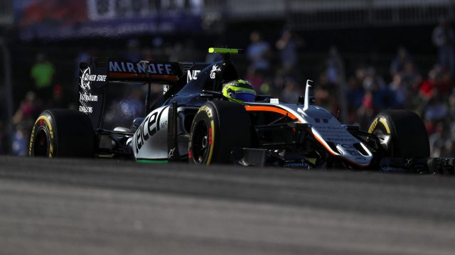 Sergio Perez (MEX) Force India VJM09 at Formula One World Championship, Rd18, United States Grand Prix, Qualifying, Circuit of the Americas, Austin, Texas, USA, Saturday 22 October 2016. &copy&#x3b; Sutton Images