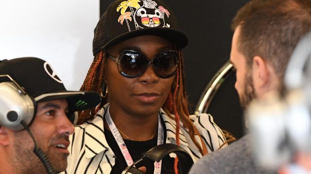 Venus Williams (USA) Tennis Player at Formula One World Championship, Rd18, United States Grand Prix, Qualifying, Circuit of the Americas, Austin, Texas, USA, Saturday 22 October 2016. &copy&#x3b; Sutton Images