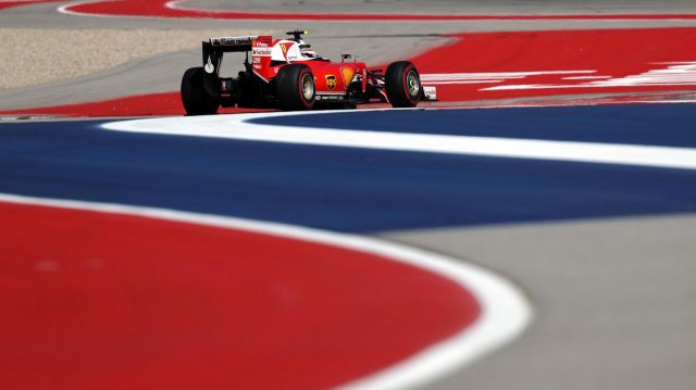 Kimi Raikkonen (FIN) Ferrari SF16-H at Formula One World Championship, Rd18, United States Grand Prix, Qualifying, Circuit of the Americas, Austin, Texas, USA, Saturday 22 October 2016. &copy&#x3b; Sutton Images