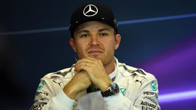 Nico Rosberg (GER) Mercedes AMG F1 in the Press Conference at Formula One World Championship, Rd18, United States Grand Prix, Qualifying, Circuit of the Americas, Austin, Texas, USA, Saturday 22 October 2016. &copy&#x3b; Sutton Images