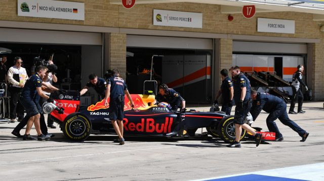 Max Verstappen (NED) Red Bull Racing RB12 at Formula One World Championship, Rd18, United States Grand Prix, Qualifying, Circuit of the Americas, Austin, Texas, USA, Saturday 22 October 2016. &copy&#x3b; Sutton Images