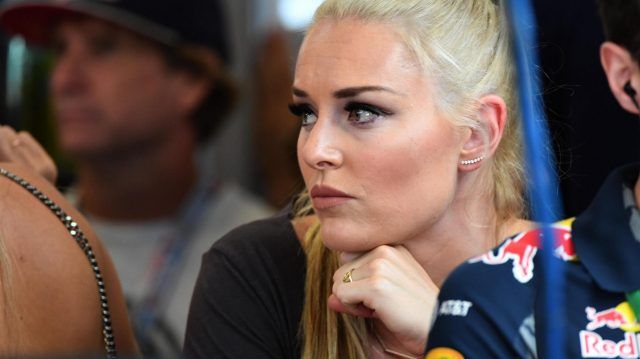 Lindsey Vonn (USA) Alpine Ski Racer at Formula One World Championship, Rd18, United States Grand Prix, Qualifying, Circuit of the Americas, Austin, Texas, USA, Saturday 22 October 2016. &copy&#x3b; Sutton Images
