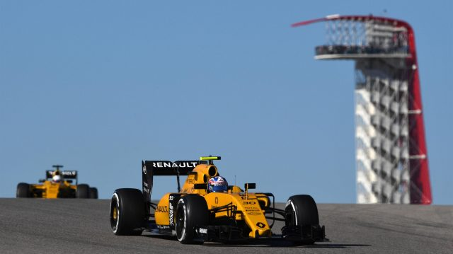 Jolyon Palmer (GBR) Renault Sport F1 Team RS16 at Formula One World Championship, Rd18, United States Grand Prix, Qualifying, Circuit of the Americas, Austin, Texas, USA, Saturday 22 October 2016. &copy&#x3b; Sutton Images