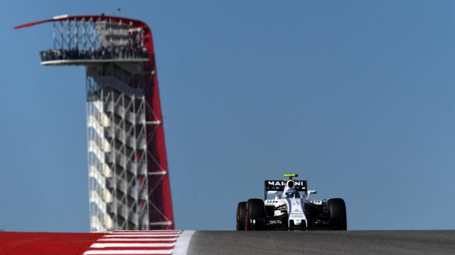 Valtteri Bottas (FIN) Williams FW38 at Formula One World Championship, Rd18, United States Grand Prix, Qualifying, Circuit of the Americas, Austin, Texas, USA, Saturday 22 October 2016. &copy&#x3b; Sutton Images