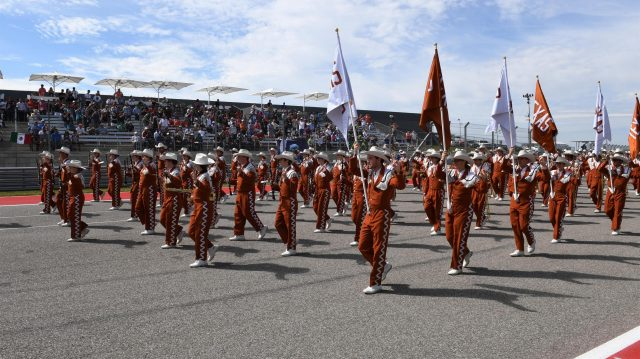 Band at Formula One World Championship, Rd18, United States Grand Prix, Race, Circuit of the Americas, Austin, Texas, USA, Sunday 23 October 2016. &copy&#x3b; Sutton Images