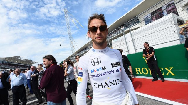 Jenson Button (GBR) McLaren on the grid at Formula One World Championship, Rd18, United States Grand Prix, Race, Circuit of the Americas, Austin, Texas, USA, Sunday 23 October 2016. &copy&#x3b; Sutton Images