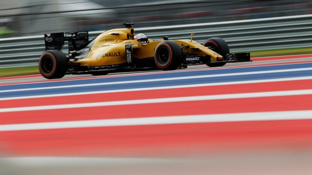 Kevin Magnussen (DEN) Renault Sport F1 Team RS16 at Formula One World Championship, Rd18, United States Grand Prix, Race, Circuit of the Americas, Austin, Texas, USA, Sunday 23 October 2016. &copy&#x3b; Sutton Images