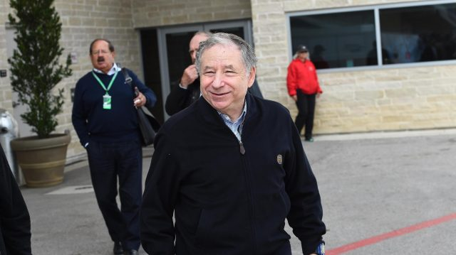 Jean Todt (FRA) FIA President at Formula One World Championship, Rd18, United States Grand Prix, Race, Circuit of the Americas, Austin, Texas, USA, Sunday 23 October 2016. &copy&#x3b; Sutton Images