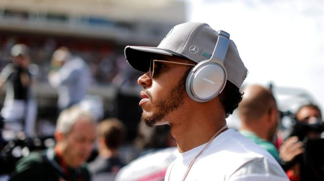 Lewis Hamilton (GBR) Mercedes AMG F1 on the drivers parade at Formula One World Championship, Rd18, United States Grand Prix, Race, Circuit of the Americas, Austin, Texas, USA, Sunday 23 October 2016. &copy&#x3b; Sutton Images