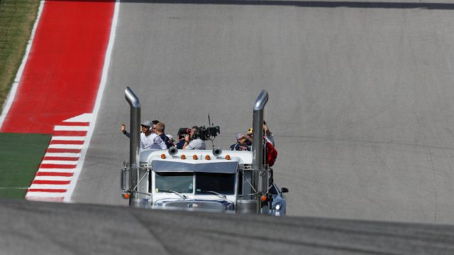 Drivers parade at Formula One World Championship, Rd18, United States Grand Prix, Race, Circuit of the Americas, Austin, Texas, USA, Sunday 23 October 2016. &copy&#x3b; Sutton Images
