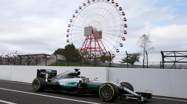 Lewis Hamilton (GBR) Mercedes-Benz F1 W07 Hybrid at Formula One World Championship, Rd17, Japanese Grand Prix, Qualifying, Suzuka, Japan, Saturday 8 October 2016. &copy&#x3b; Sutton Images