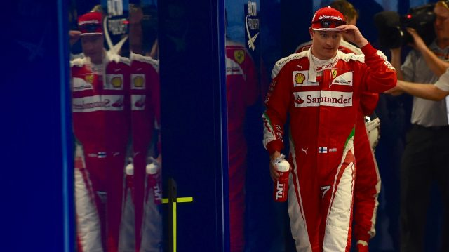 Kimi Raikkonen (FIN) Ferrari in parc ferme at Formula One World Championship, Rd17, Japanese Grand Prix, Qualifying, Suzuka, Japan, Saturday 8 October 2016. &copy&#x3b; Sutton Images