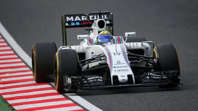 Felipe Massa (BRA) Williams FW38 at Formula One World Championship, Rd17, Japanese Grand Prix, Qualifying, Suzuka, Japan, Saturday 8 October 2016. &copy&#x3b; Sutton Images