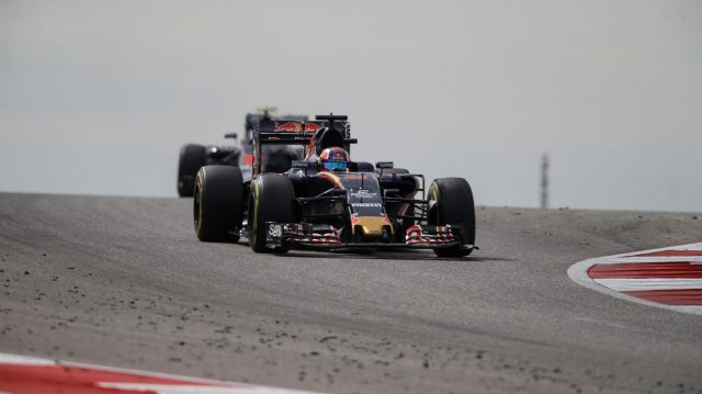 Daniil Kvyat (RUS) Scuderia Toro Rosso STR11 at Formula One World Championship, Rd18, United States Grand Prix, Race, Circuit of the Americas, Austin, Texas, USA, Sunday 23 October 2016. &copy&#x3b; Sutton Images