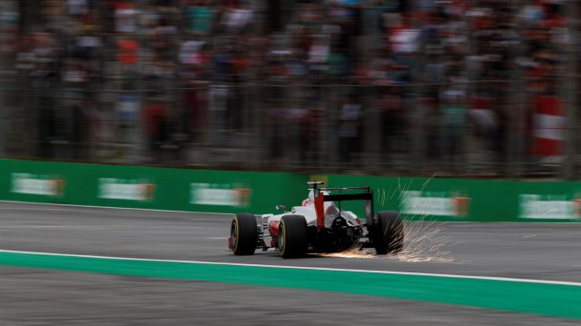 Romain Grosjean (FRA) Haas VF-16 at Formula One World Championship, Rd20, Brazilian Grand Prix, Qualifying, Interlagos, Sao Paulo, Brazil, Saturday 12 November 2016. &copy&#x3b; Sutton Images