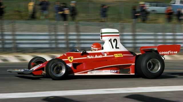 The first Ferrari to feature swathes of white on its sculpted red bodywork was the iconic 312T. The colour scheme was an instant hit, with Niki Lauda winning his first drivers' championship and Clay Regazzoni adding enough points to help the team to the constructors' crown - their first titles since 1964. &copy&#x3b; Sutton Motorsport Images