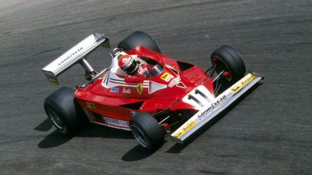 The 312T2B of 1977 used a near identical livery to its predecessor - and was yet another double championship winner. This time Lauda claimed three wins en route to his second drivers' crown, while Carlos Reutemann added another victory in Brazil. &copy&#x3b; Sutton Motorsport Images