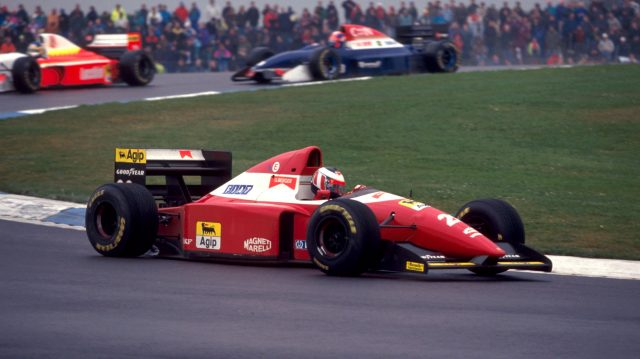 The Scuderia eased back on the white highlights after 1978, but 'bianco' did make a prominent comeback on the cars of Gerhard Berger (pictured) and Jean Alesi in 1993. However, when the F93A proved both unreliable and uncompetitive, scoring just three podiums all season, Ferrari reverted back to a solid red paint job – a trend they'll buck for the first time in 23 years in 2016… &copy&#x3b; Sutton Motorsport Images