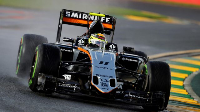 Sergio Perez (MEX) Force India VJM09 at Formula One World Championship, Rd1, Australian Grand Prix, Practice, Albert Park, Melbourne, Australia, Friday 18 March 2016. &copy&#x3b; Sutton Motorsport Images