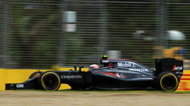 Jenson Button (GBR) McLaren MP4-31 at Formula One World Championship, Rd1, Australian Grand Prix, Practice, Albert Park, Melbourne, Australia, Friday 18 March 2016. &copy&#x3b; Sutton Motorsport Images