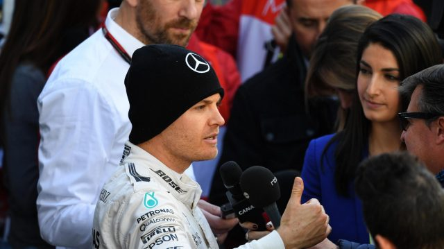 Nico Rosberg (GER) Mercedes AMG F1 talks with the media at Formula One Testing, Day One, Barcelona, Spain, Tuesday 1 March 2016. &copy&#x3b; Sutton Motorsport Images