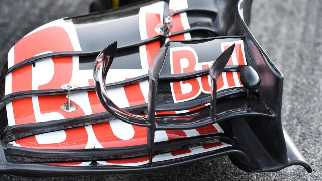 Scuderia Toro Rosso STR11 front wing detail at Formula One Testing, Day One, Barcelona, Spain, Tuesday 1 March 2016. &copy&#x3b; Sutton Motorsport Images