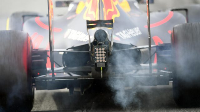 Daniel Ricciardo (AUS) Red Bull Racing RB12 and tyre smoke at Formula One Testing, Day Two, Barcelona, Spain, Wednesday 2 March 2016. &copy&#x3b; Sutton Motorsport Images