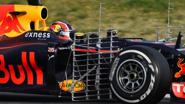 Daniil Kvyat (RUS) Red Bull Racing RB12 with aero sensors at Formula One Testing, Day Three, Barcelona, Spain, Thursday 3 March 2016. &copy&#x3b; Sutton Motorsport Images