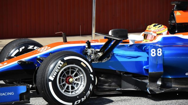 Rio Haryanto (IDN) Manor Racing MRT05 with aero sensor at Formula One Testing, Day Four, Barcelona, Spain, Friday 4  March 2016. &copy&#x3b; Sutton Motorsport Images