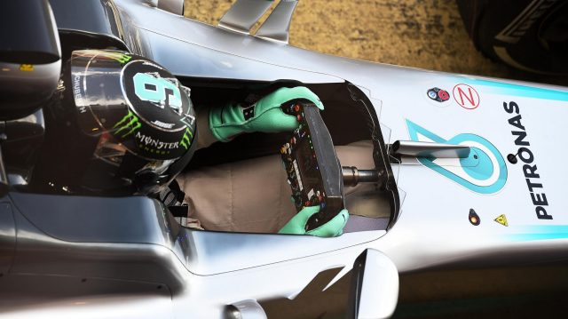 Nico Rosberg (GER) Mercedes-Benz F1 W07 Hybrid and steering wheel at Formula One Testing, Day Four, Barcelona, Spain, Friday 4 March 2016. &copy&#x3b; Sutton Motorsport Images