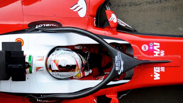 Sebastian Vettel (GER) Ferrari SF16-H with cocokpit halo at Formula One Testing, Day Four, Barcelona, Spain, Friday 4  March 2016. &copy&#x3b; Sutton Motorsport Images
