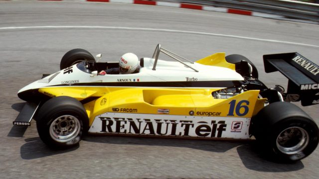 Rene Arnoux (FRA) Renault RE30B, DNF. Monaco Grand Prix, Monte-Carlo, Monaco, 23 May 1982. &copy&#x3b; Sutton Motorsport Images
