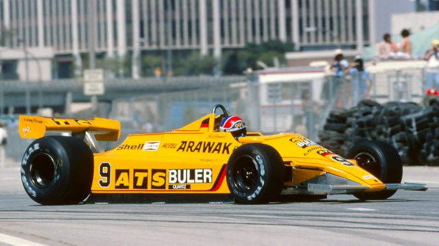 Jan Lammers (NED), ATS D4, retired in the opening seconds of the race with a driveshaft universal joint failure.United States Grand Prix (West), Long Beach, CA, USA. 30 March 1980.©Sutton Motorsport Images