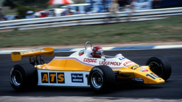 Eliseo Salazar (CHI), ATS D5, finished ninth. South African Grand Prix, Rd1, Kyalami, South Africa, 23 January 1982. ©Sutton Motorsport Images