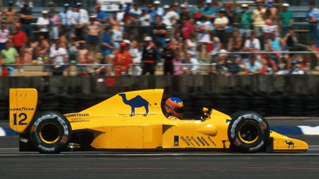 Martin Donnelly (GBR) Lotus 102. British Grand Prix, Silverstone, England, 15 July 1990. &copy&#x3b; Sutton Images