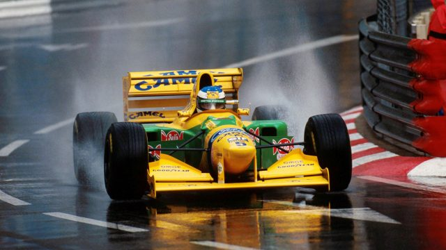 Michael Schumacher(GER) Benetton B193 took 2nd place on the grid during a very wet qualifying session. Monaco Grand Prix, Monte Carlo, 23 May 1993. ©Sutton Motorsport Images