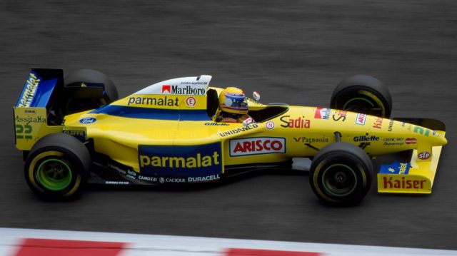 Roberto Moreno (BRA) Forti FG01 Ford. Belgian Grand Prix, Spa-Francorchamps, Belgium, 27 August 1995. ©Sutton Motorsport Images
