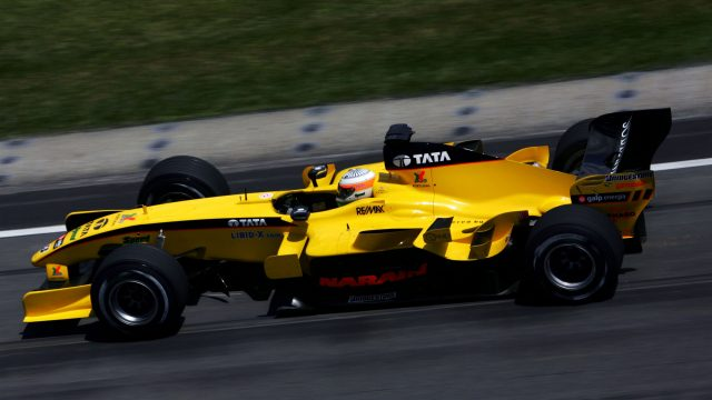 Narain Karthikeyan (IND) Jordan EJ15. Formula One World Championship, Rd 9, United States Grand Prix, Practice Day, Indianapolis, USA, 17 June 2005. © Sutton Motorsport Images