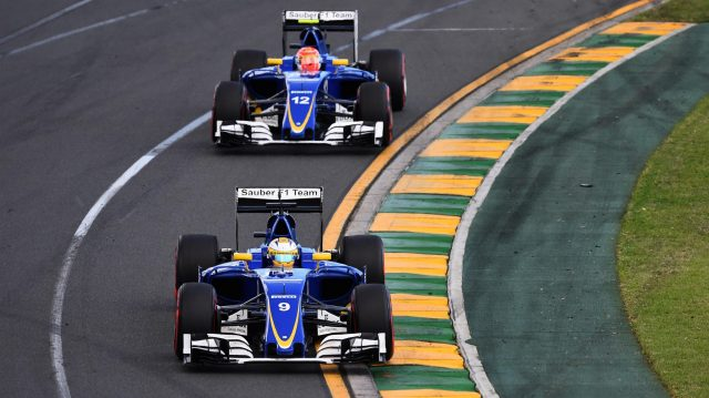 Marcus Ericsson (SWE) Sauber C35 leads Felipe Nasr (BRA) Sauber C35 at Formula One World Championship, Rd1, Australian Grand Prix, Race, Albert Park, Melbourne, Australia, Sunday 20 March 2016. &copy&#x3b; Sutton Motorsport Images