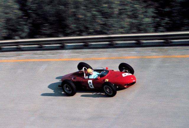 After impressing at Le Mans, a youthful <b>Pedro Rodriguez</b> got the nod to join up with Ferrari's all-conquering Grand Prix team for their home race at Monza at the tail-end of 1961 – and he would make an immediate impact. Then the youngest man to ever set foot in an F1 car, the rapid Mexican qualified an incredible second, just one-tenth back from doomed polesitter Wolfgang von Trips and eight-tenths ahead of that year's eventual champion Phil Hill, both in identical machinery. He was running third in the race before retiring with a fuel pump issue. &copy&#x3b; Sutton Motorsport Images