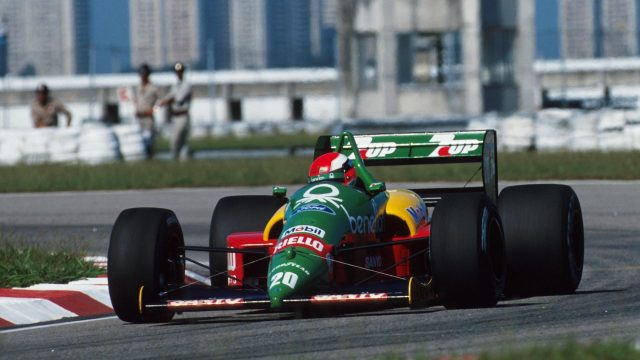 After sustaining devastating foot injuries in a terrifying F3000 crash in 1988, it was something of a miracle that <b>Johnny Herbert</b> was able to walk again, let alone race, which makes his F1 debut less than six months later all the more remarkable. Unable to brake without experiencing excruciating pain and needing to be helped in and out of the car, the gritty Englishman finished an unbelievable fourth in Brazil with Benetton.  &copy&#x3b; Sutton Motorsport Images