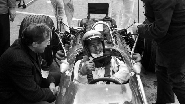 Three years after a chance meeting with Colin Chapman, <b>Mario Andretti</b> would make his debut for Chapman's Lotus team on home soil at Watkins Glen. It was worth the wait. The American, who had entered but not started the Grand Prix in Italy several weeks earlier, stunned the paddock by capturing pole - the first man to achieve the feat on debut. He was demoted to second by championship contender Jackie Stewart on the first lap, but held stay until unravelling bodywork and then clutch failure brought his race to a premature - and unfitting - conclusion. © Sutton Motorsport Images