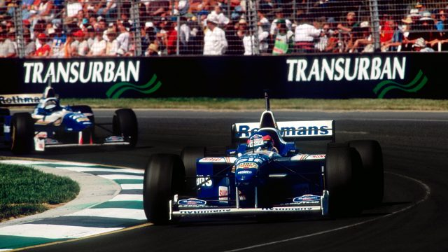 The son of an icon, the reigning Champ Car champion, and the youngest Indianapolis 500 winner in history - <b>Jacques Villeneuve</b> appeared to have it all. He did everything right on his 1996 Australian debut too: quick in practice, he duly sealed pole at the first attempt as his Williams team comfortably out-paced their rivals. He made a better start than team mate Damon Hill, and carried the fight to the Briton right up until an oil leak forced him to slow and cede the lead, leaving him second at the flag. &copy&#x3b; Sutton Motorsport Images