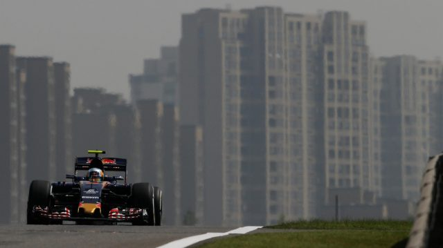 Carlos Sainz (ESP) Scuderia Toro Rosso STR11 at Formula One World Championship, Rd3, Chinese Grand Prix, Practice, Shanghai, China, Friday 15 April 2016. &copy&#x3b; Sutton Motorsport Images