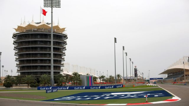 Sakhir Tower annd Track view at Formula One World Championship, Rd2, Bahrain Grand Prix Preparations, Bahrain International Circuit, Sakhir, Bahrain, Thursday 31 March 2016. &copy&#x3b; Sutton Motorsport Images